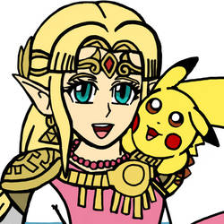 Zelda and Pikachu