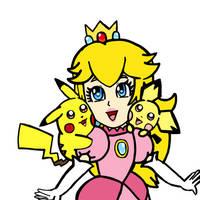 Peach, Pikachu and Pichu