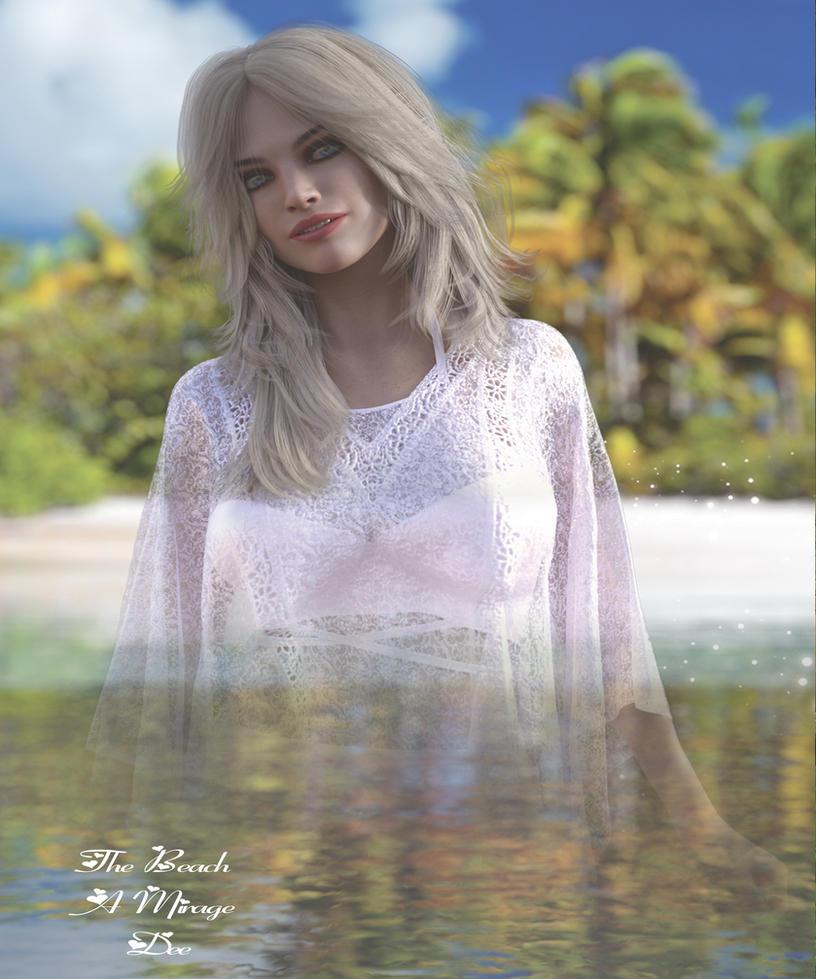 The Beach Mirage by Deefreethinker