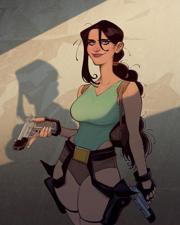 Classic Lara Croft Fanart