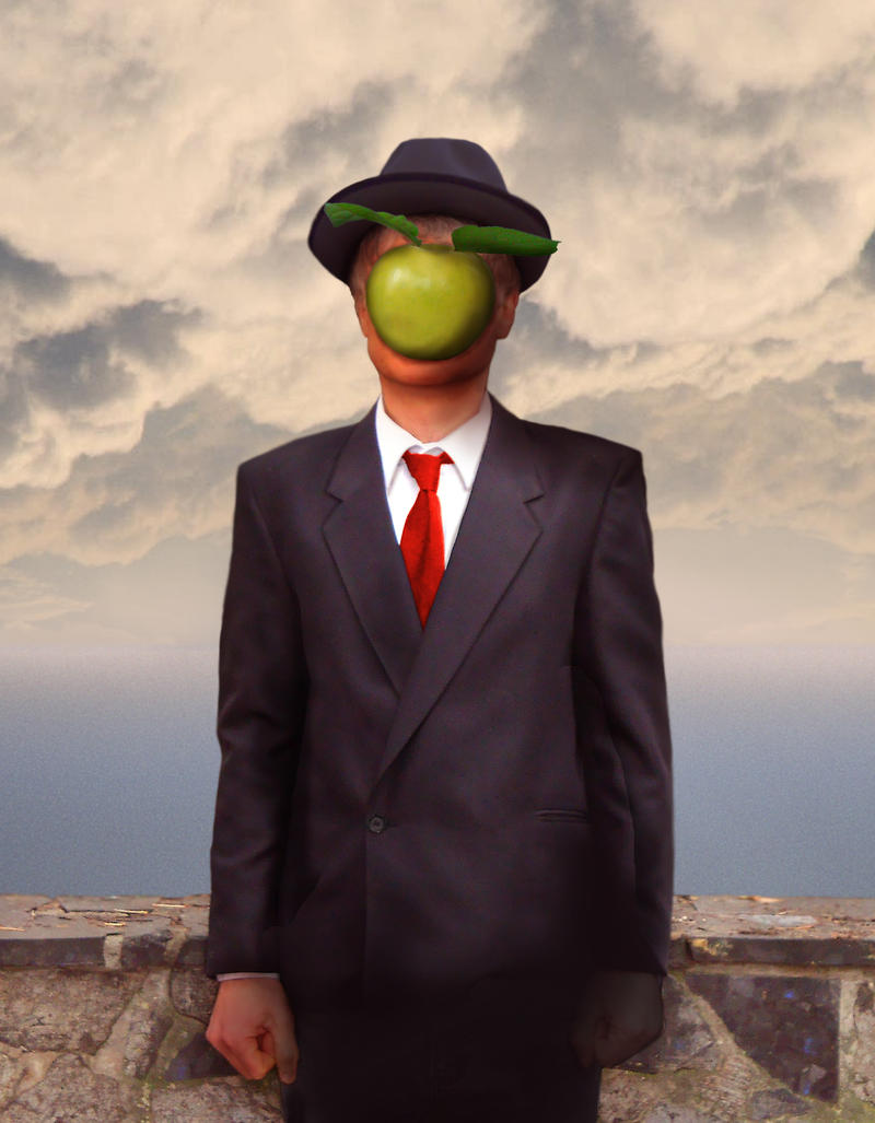 Rene Magritte The Son Of Man The Son of Man by Rits...