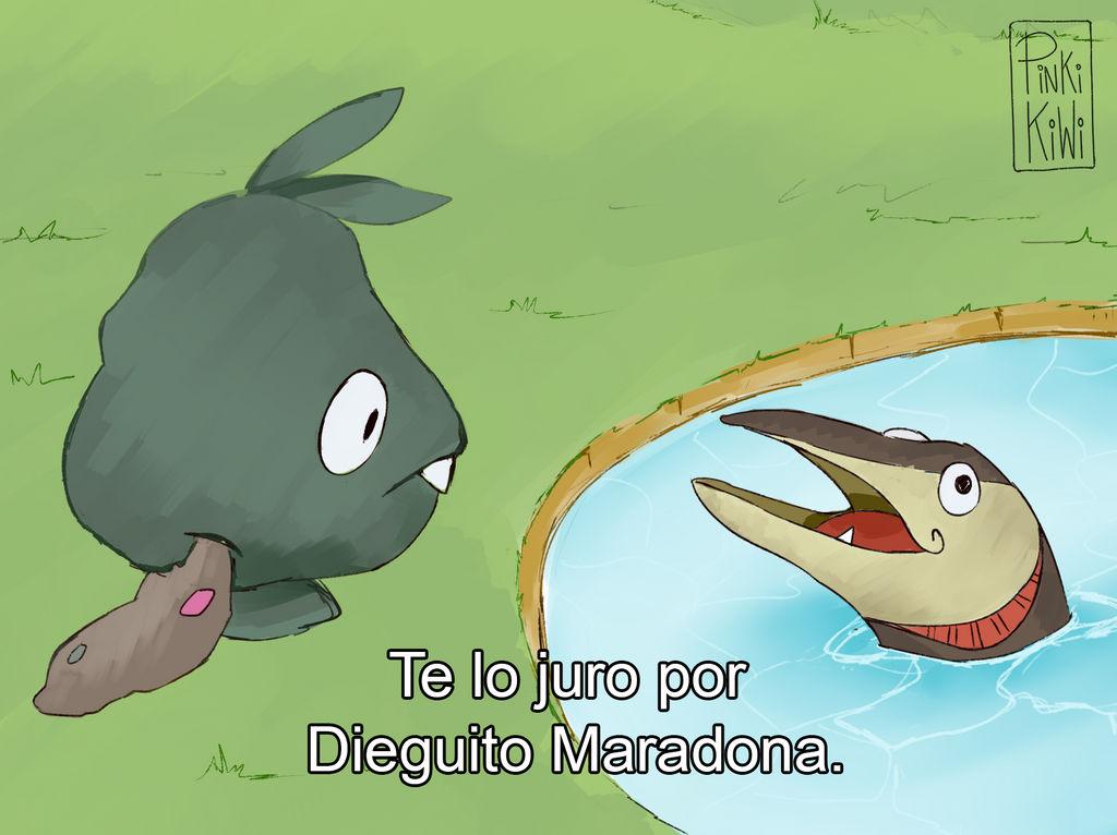 Te Lo Juro Por Dieguito Maradona Pokemon Version By Pinkikiwi On Deviantart