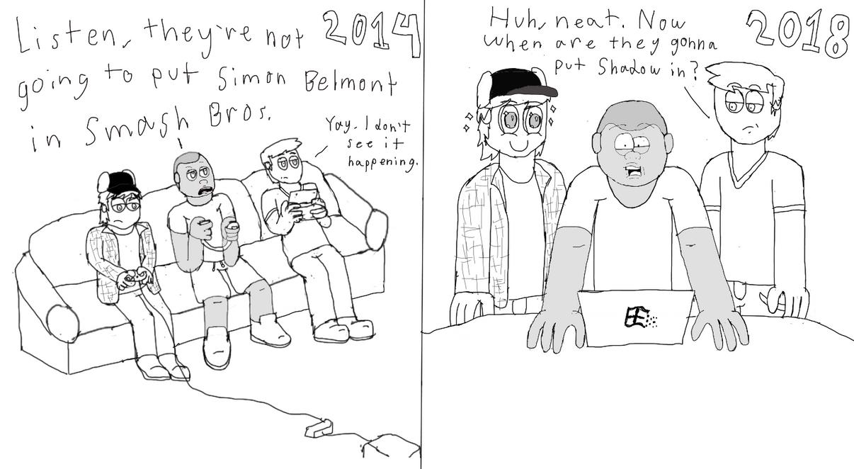 Smash Bros. Reaction by GrungeVanHollow
