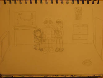 Cutter and T.V. and 987 by GrungeVanHollow