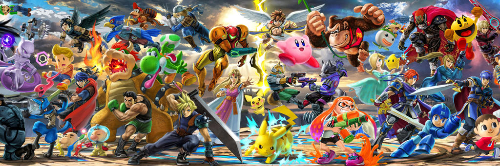 Super Smash Bros. Ultimate Twitter Cover by Helryu