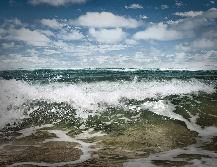 SUMMER Ocean Wave by DesaturatedDream