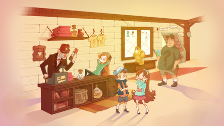 Gravity Falls by mioree-art