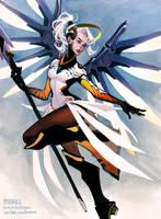 Mercy .Overwatch. by mioree-art