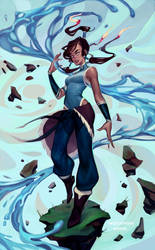 Korra by mioree-art