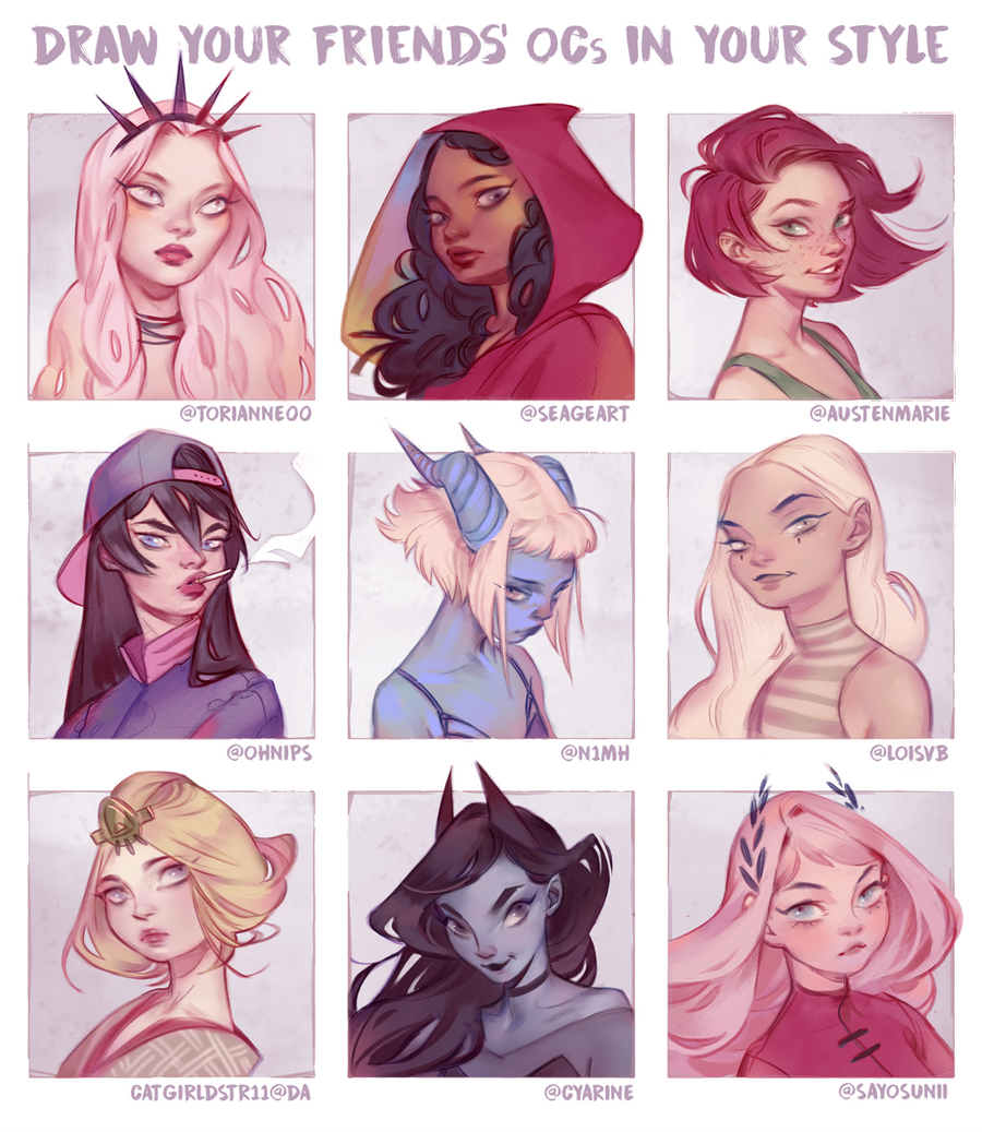 Draw Your Friends Ocs In Your Style By Mioree Art On Deviantart