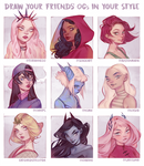 Draw Your Friends' OCs in Your Style