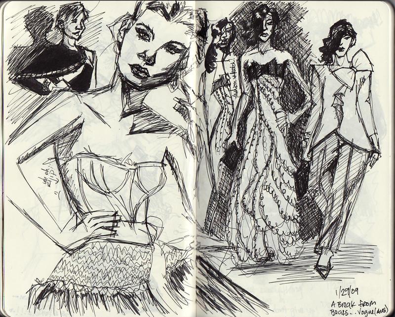 Fashion Sketches by pinaypenciler