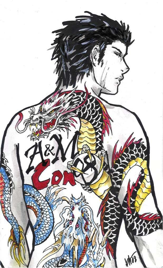Yakuza tattoo    by Milwa-czYakuza Tattoo Drawing