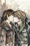 Kiss_watercolor sketch