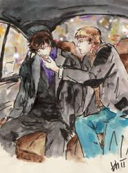 ::Tired Sherlock in cab:: by Milwa-cz