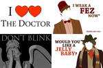 Doctor Who postcards