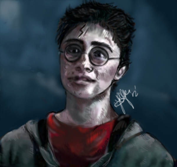 Digital Painting - Harry Potter WIP by BrokenQuiet