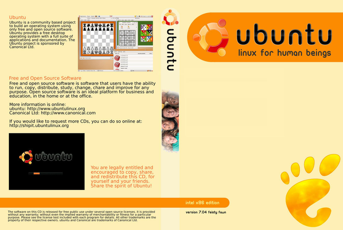 Ubuntu DVD Cover by MaxFragg