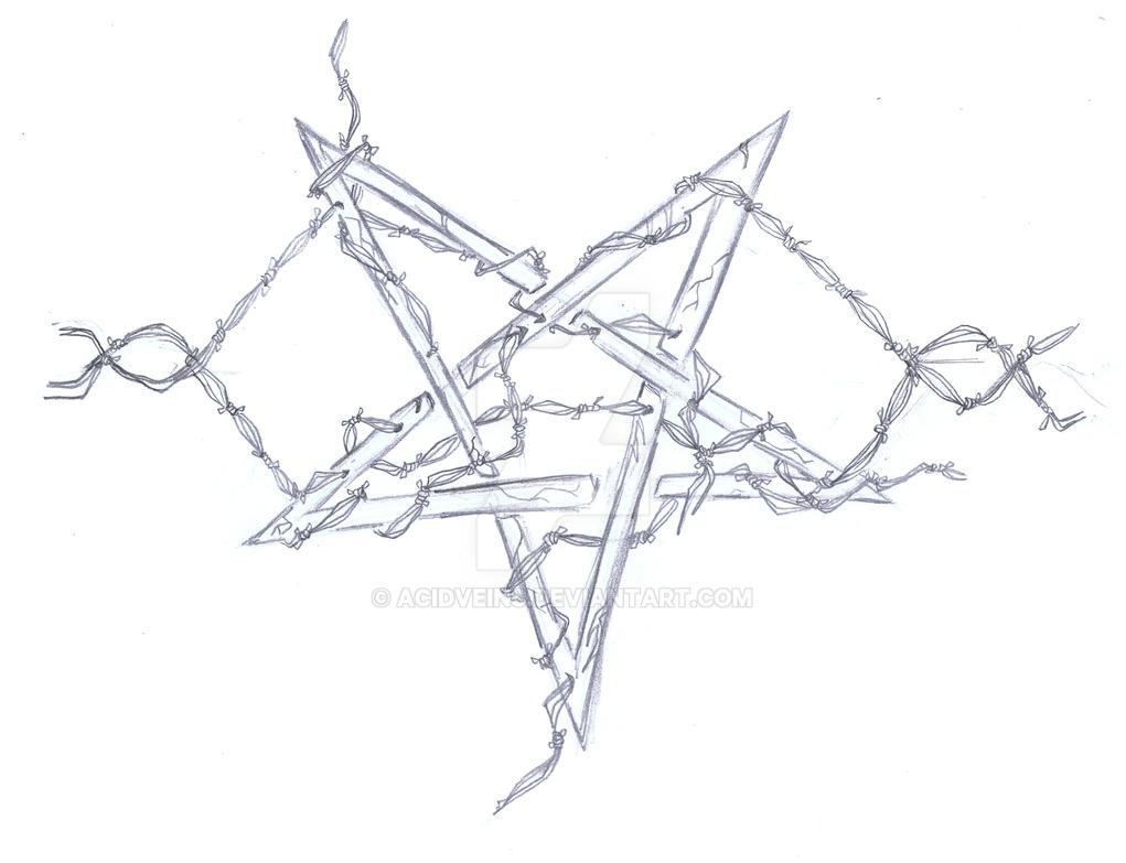 pentagram tattoo design sketch by acidveins on deviantart. Black Bedroom Furniture Sets. Home Design Ideas