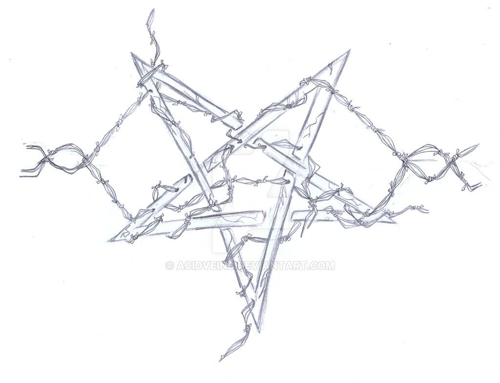 Pentagram Tattoo Design Sketch by AcidVeins on DeviantArt