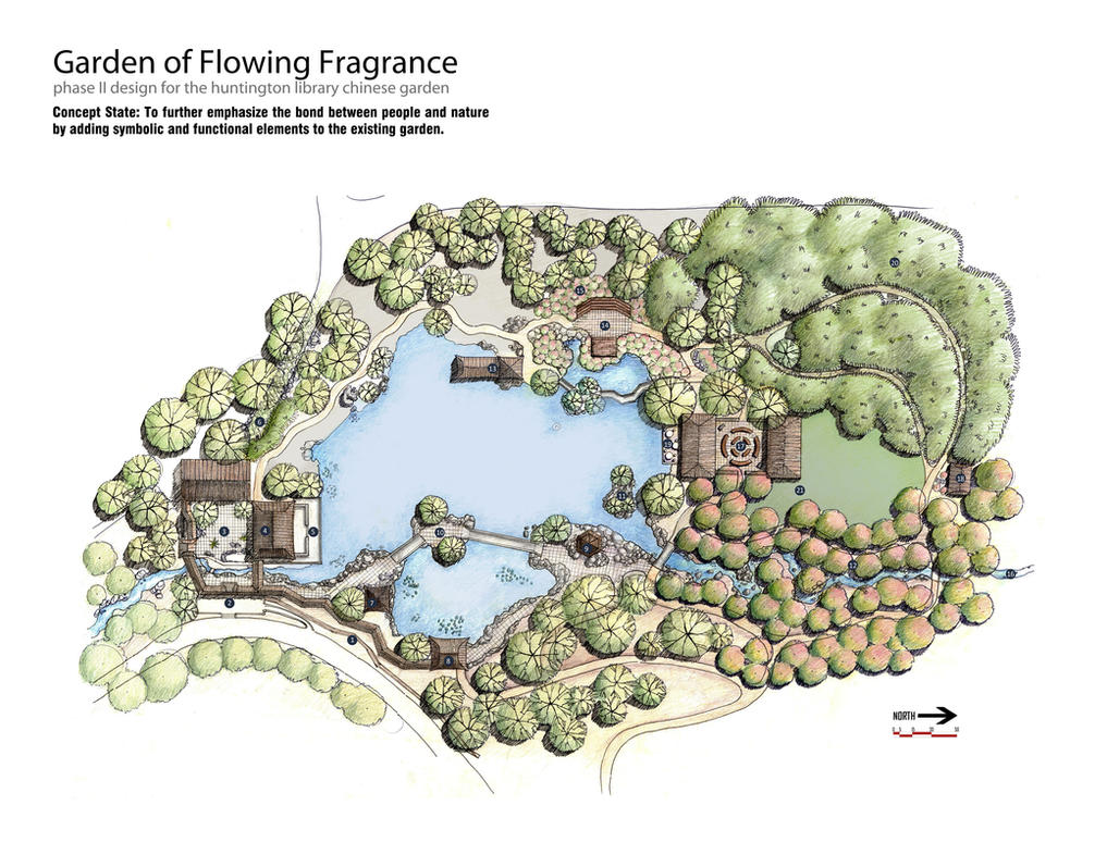 Chinese garden site plan by omgtim on deviantart for Garden designs drawings