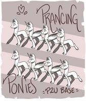 BASE Prancing ponies by byDaliaPamela