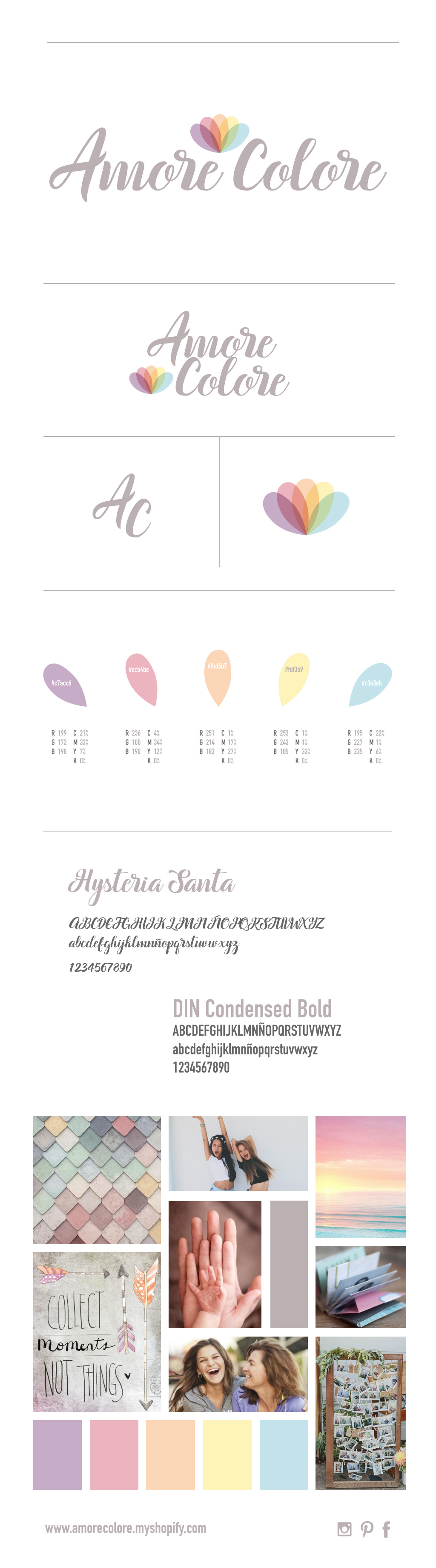 Amore Colore Brand Guide by byDaliaPamela