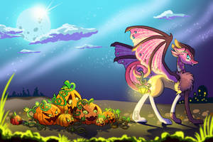 Patchwork walking on the moonlight by byDaliaPamela