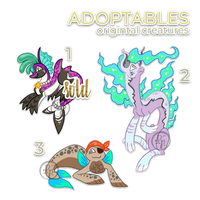 Creature designs adoptables (OPEN) by byDaliaPamela