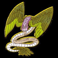 Winged-serpent by byDaliaPamela