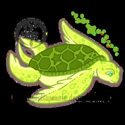 Chibi-turtle by byDaliaPamela