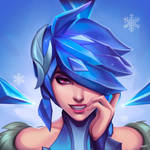 Frostblade Irelia Portrait, by NeburaART by Antsstyle