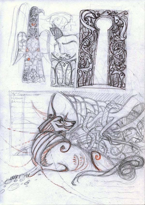 Loki child: random sketches 3 by Unita-N