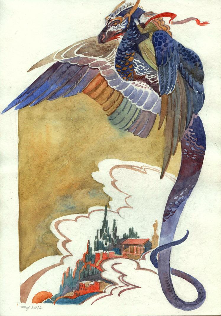 Flying dragon by Unita-N