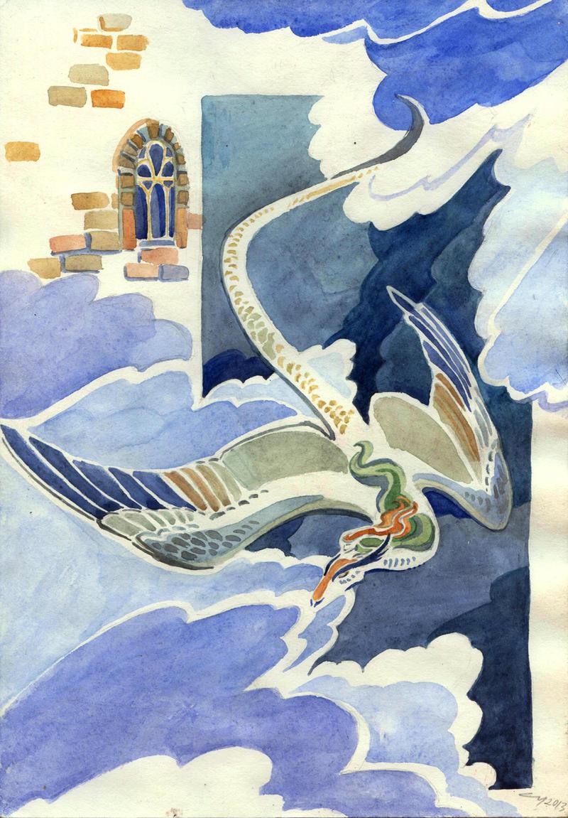 Flying dragon 2 by Unita-N