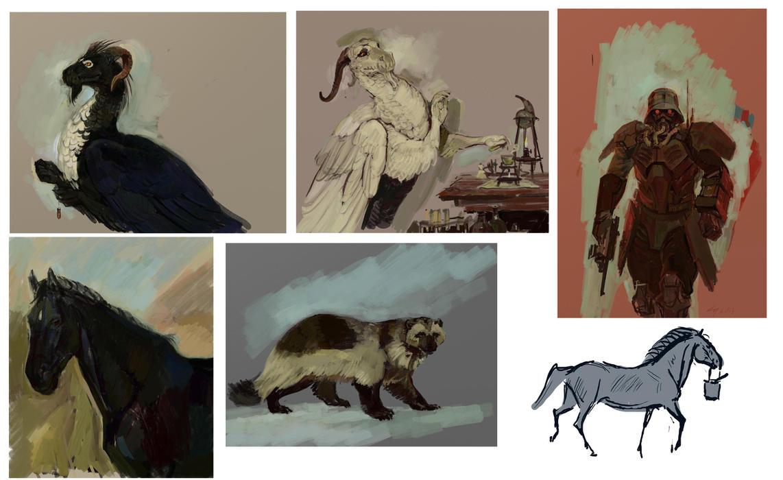 ArtRage sketches by Unita-N