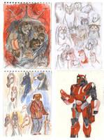 Patreon reveiw sketchbook by Unita-N