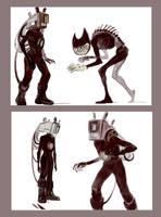 BATIM sketches + speedpaint by Unita-N