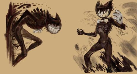 BATIM: Ink Demon sketch+speedpaint by Unita-N