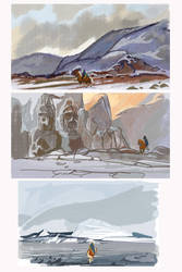 The Snatches: scenery sketches (more on Patreon) by Unita-N
