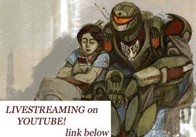 Art livestream: sketching  Offline!