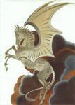 Inktober 03 Dragonhorse + speedpaint