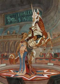 Lady and Unicorn: SKYWAY artbook +speedpaint