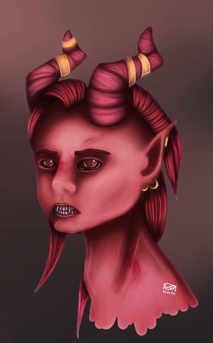 Demon portrait by DarkRay777