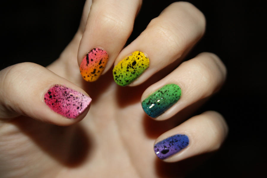 Rainbow Nail Design by lawyersloveandbones on DeviantArt
