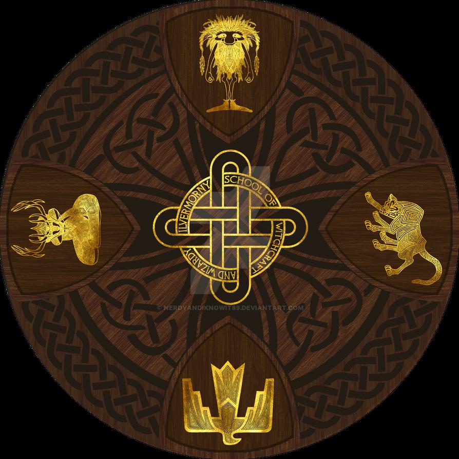 Ilvermorny School Of Witchcraft And Wizardry Crest By NerdyAndIKnowIt89