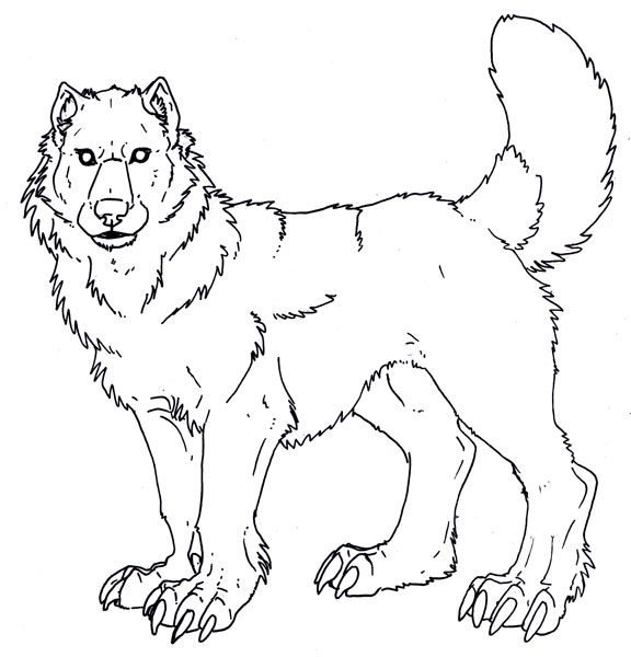 Dire Wolf Coloring Page Coloring
