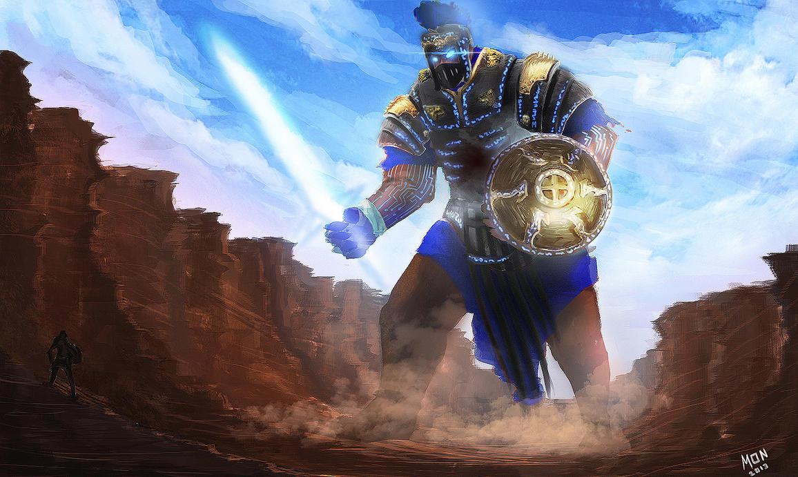 Giant Golmech, Hero in Danger by EKKnight
