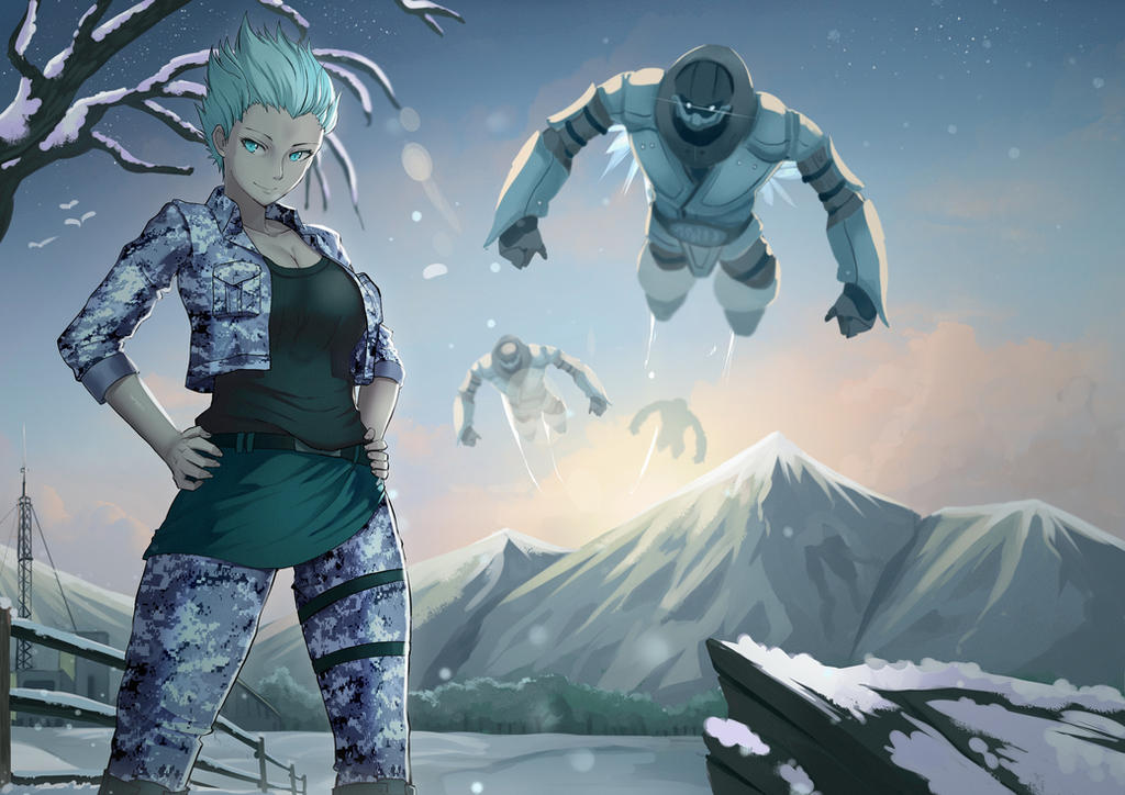 Frost and The Subzero Mechs by EKKnight