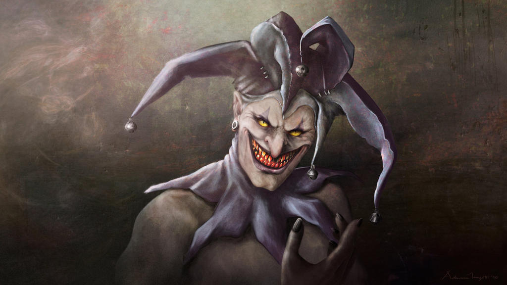 Where Were You? (Evil Jester with Cat Eyes) by EKKnight on ...